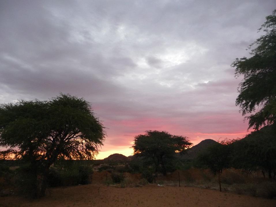 Omaheke-Region im Abendlicht